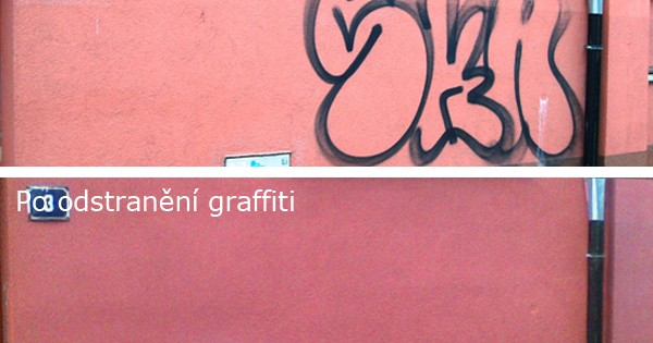 Odstraňování graffity z fasády Brno